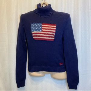 VTG Ralph Lauren Sport knit turtleneck
